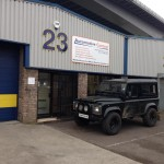 Land Rover Defender being installed with lighting and security upgrade