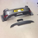 VW Golf mk6 bumper with replacement lower bumper spoiler with removable panel